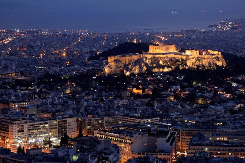 Cidade de Atenas na Grécia