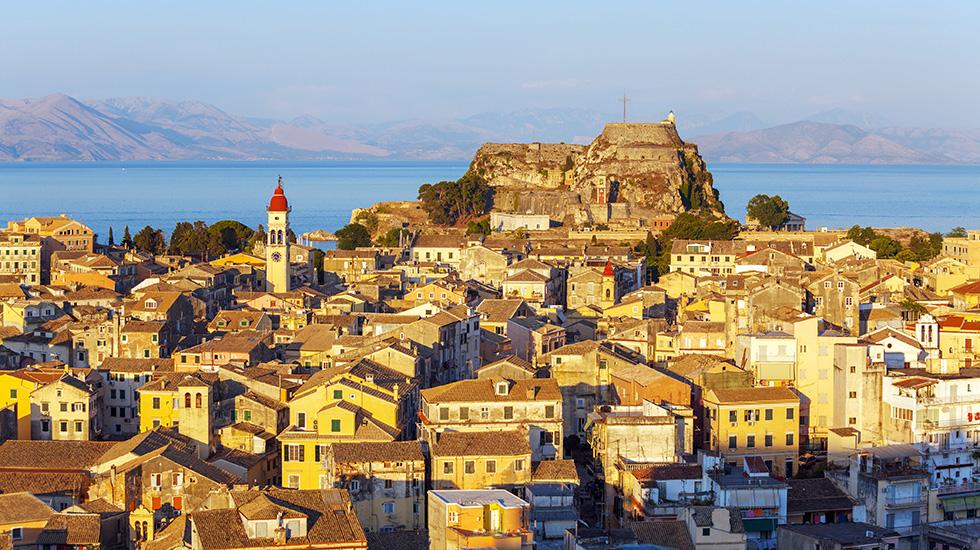 Cidade de Corfu na Grécia