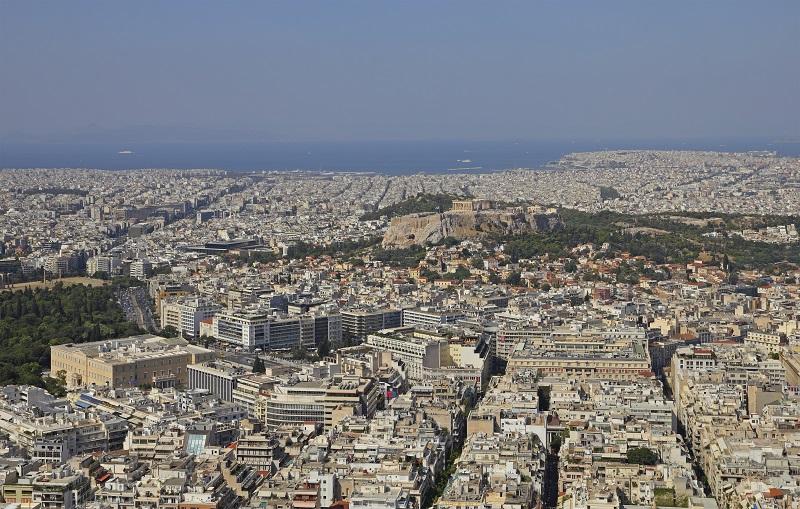 Vista panorâmica da cidade de Atenas na Grécia