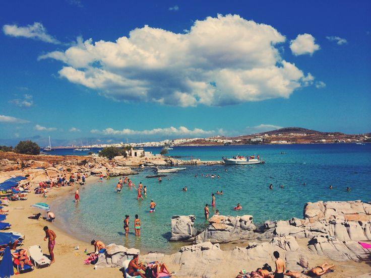 Praia Kolymbithres na ilha de Paros