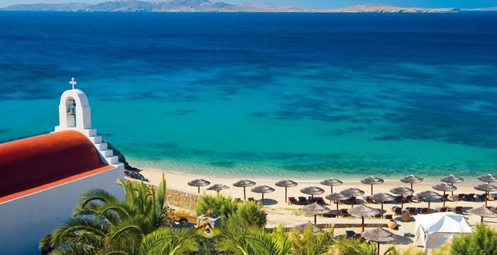 Praia Agios Ioannis na ilha de Mykonos