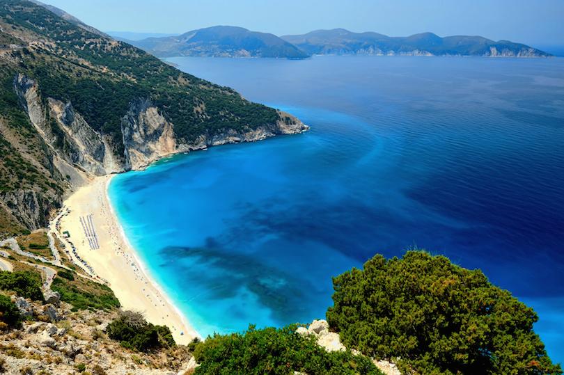 Praia Myrtosna Grécia