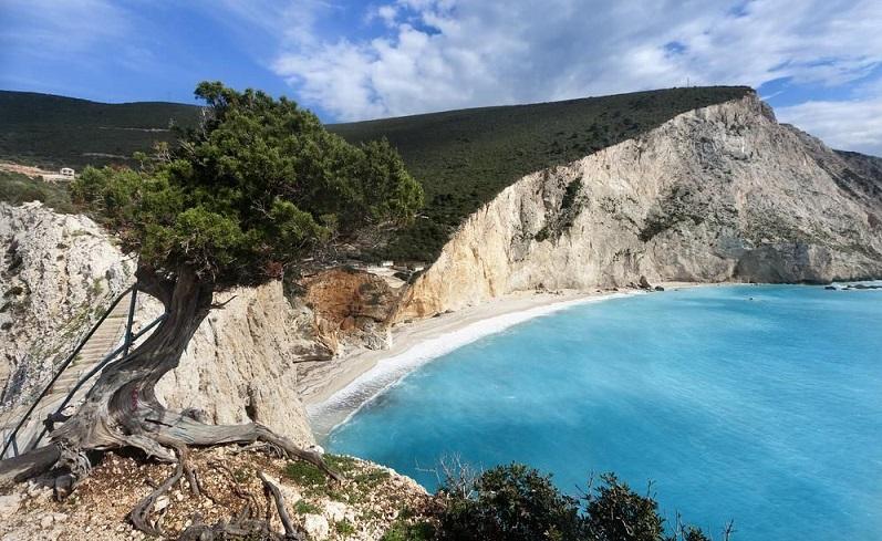 Praia de Porto Katsiki na Grécia