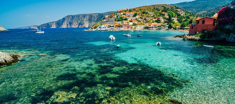 Ilha de Cefalônia na Grécia