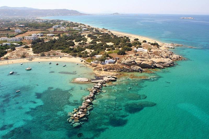 Vista da ilha de Naxos na Grécia