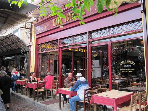 Café Avyssinia em Atenas