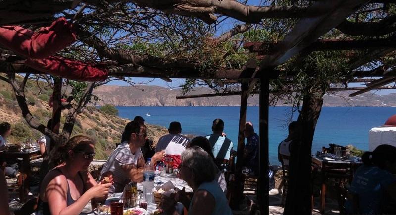 Kikis Taverna na ilha de Mykonos
