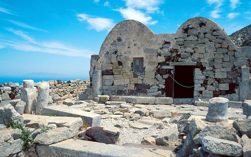 Antiga Thira em Santorini