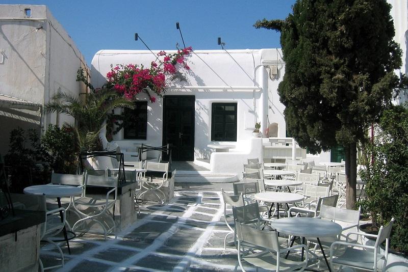 Astra Bar na ilha de Mykonos