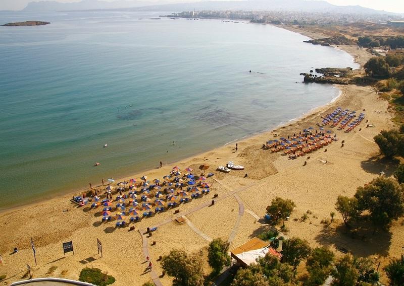Praia Chrissi Akti na ilha de Paros