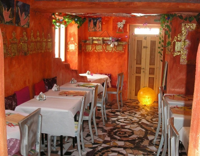 Restaurante Happy Cows na ilha de Paros