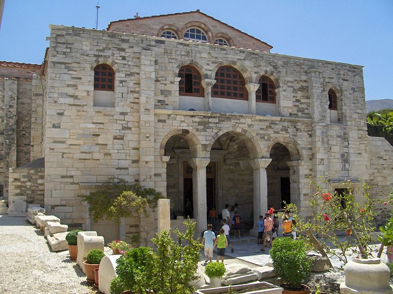 Igreja Panagia Ekatontapiliani na ilha de Paros