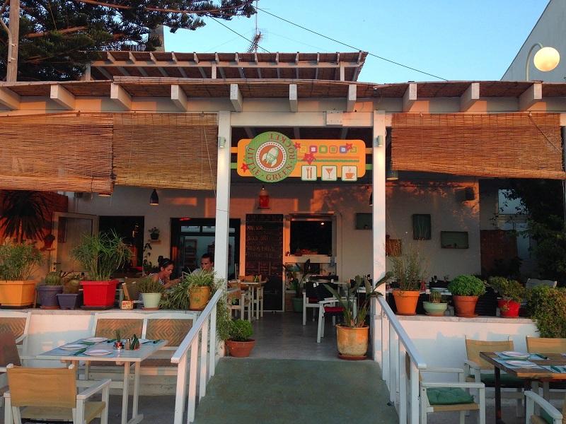 Restaurante Little Green Rocket na ilha de Paros