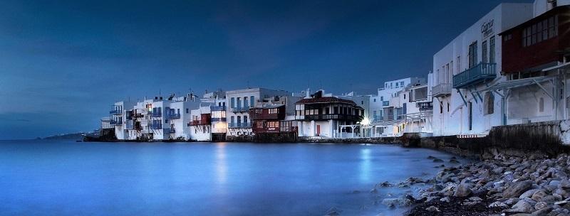 Little Venice na ilha de Mykonos