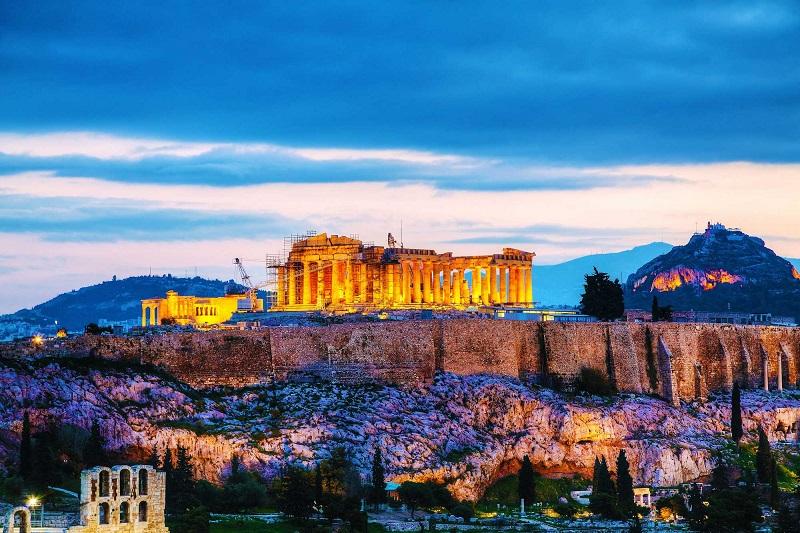 Vista da cidade de Atenas