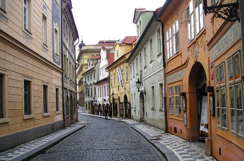 Bairro Malá Strana na Cidade Baixa em Praga