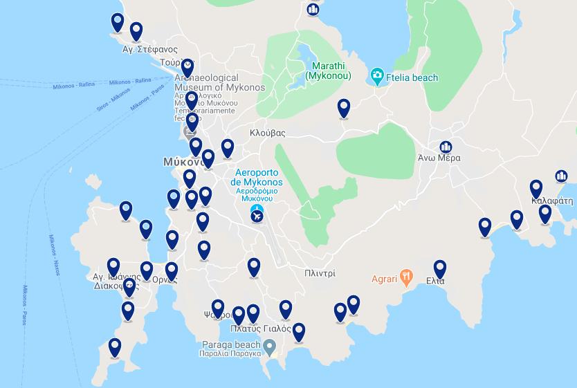 Onde ficar na ilha de Mykonos: melhores hotéis