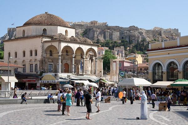 Mercado Monastiraki em Atenas