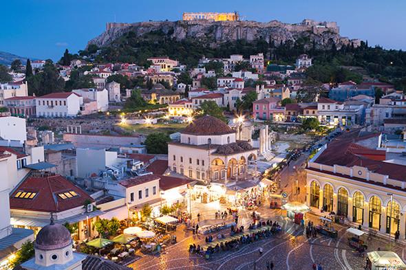 Região de Monastiraki em Atenas