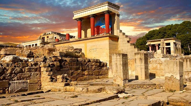 Palácio Knossos em Creta