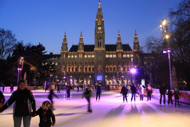 Patinação no gelo em Viena