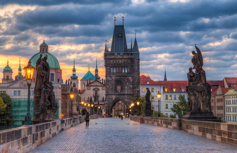 Pontos turísticos em Praga na República Checa