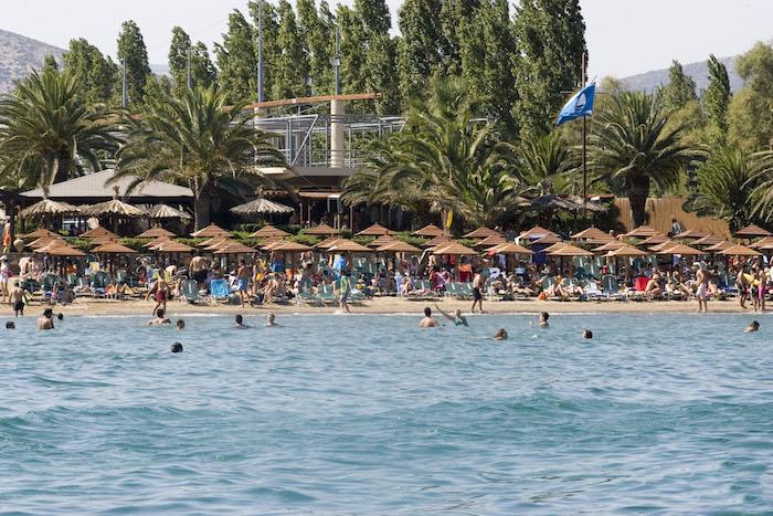 Praia Schinias em Atenas