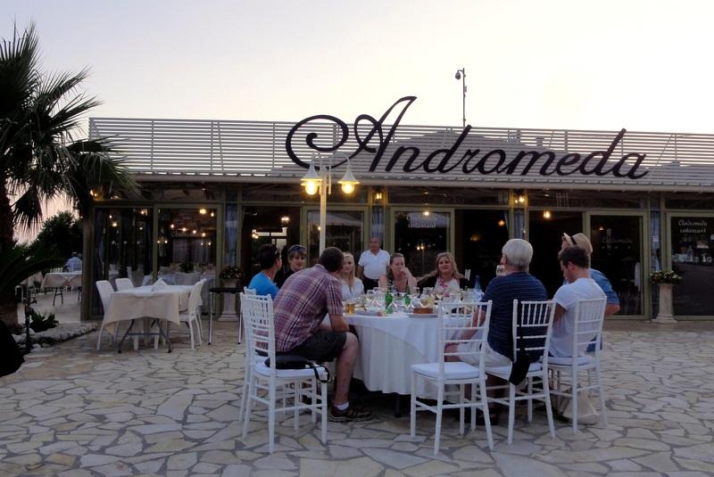 Restaurante Andromeda na ilha de Cefalônia
