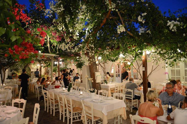 Restaurante Avra na ilha de Mykonos