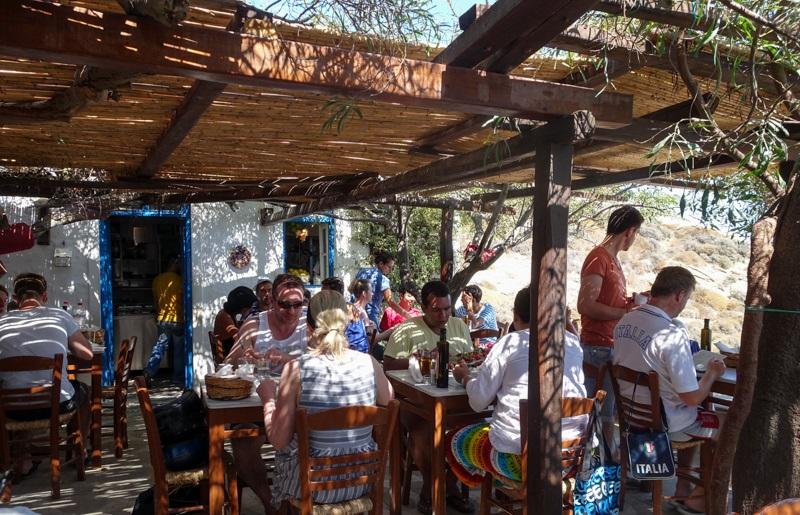 Restaurante Kikis na ilha de Mykonos