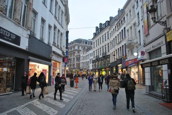 Rue Neuve em Bruxelas