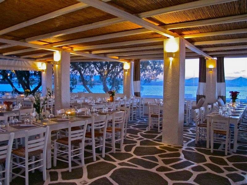 Restaurante Siparos na ilha de Paros