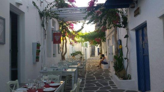Restaurante Soso na ilha de Paros