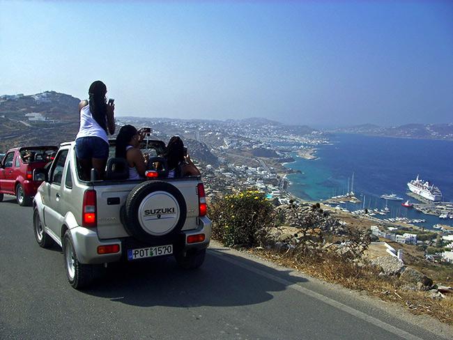 Carro 4x4 em Mykonos