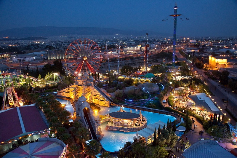 Parque de diversões Allou em Atenas