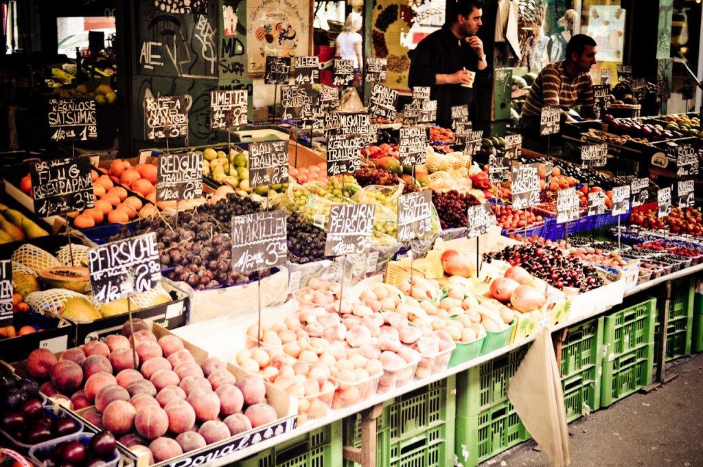 Naschmarktem Viena na Áustria