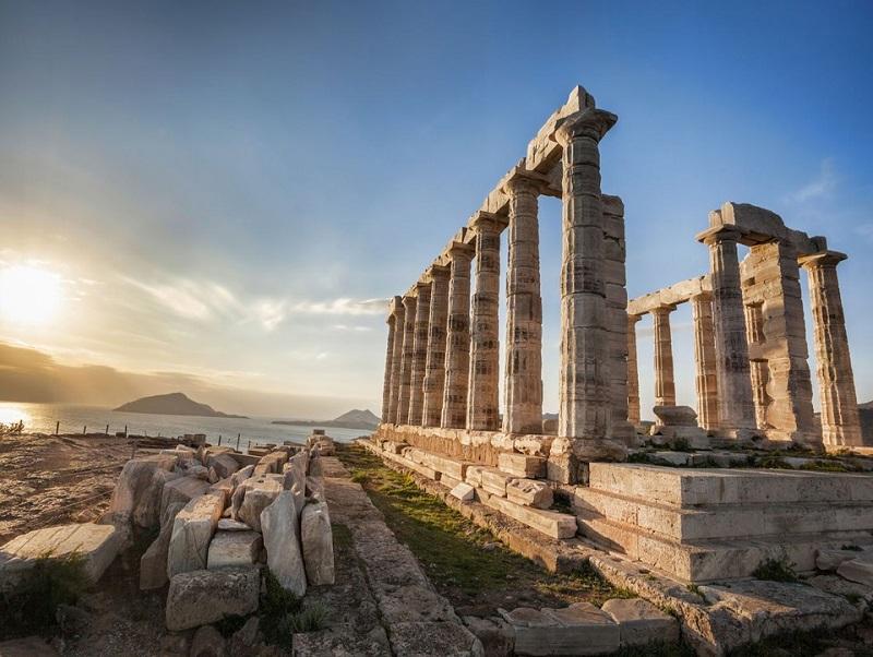 Cabo Sounion em Atenas