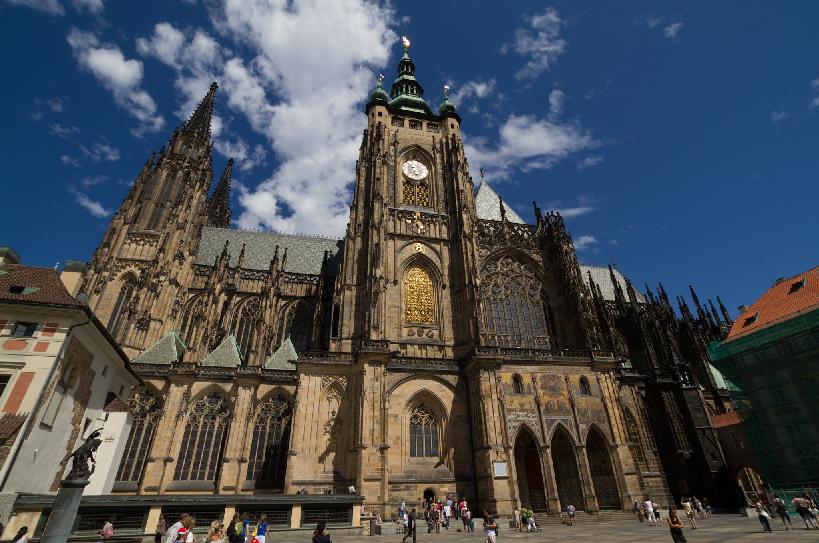 Fachada da Catedral São Vitus em Praga