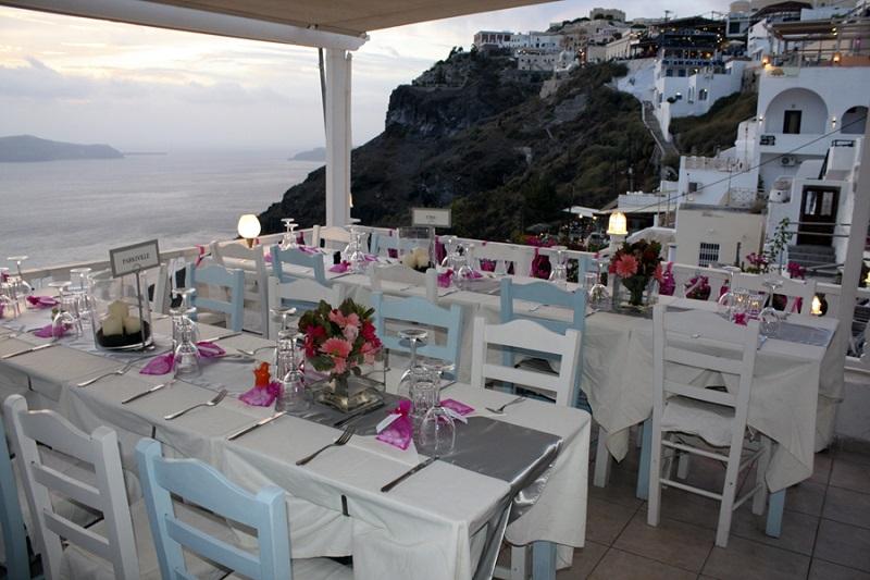 Restaurante em Santorini