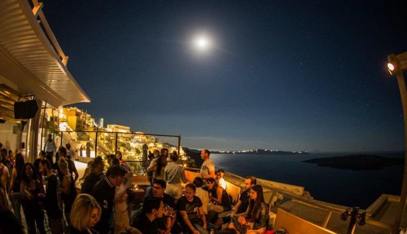 Bar em Santorini
