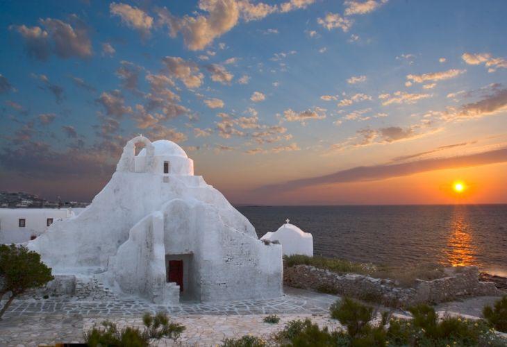 Igreja Panagia Paraportiani em Mykonos