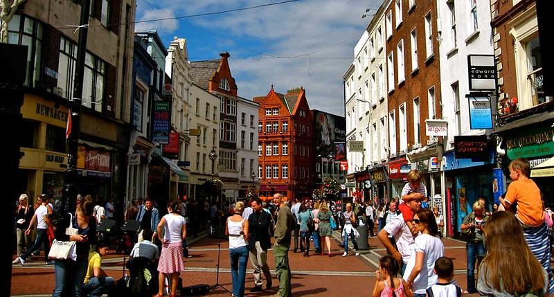 Lojas na Grafton Street em Dublin