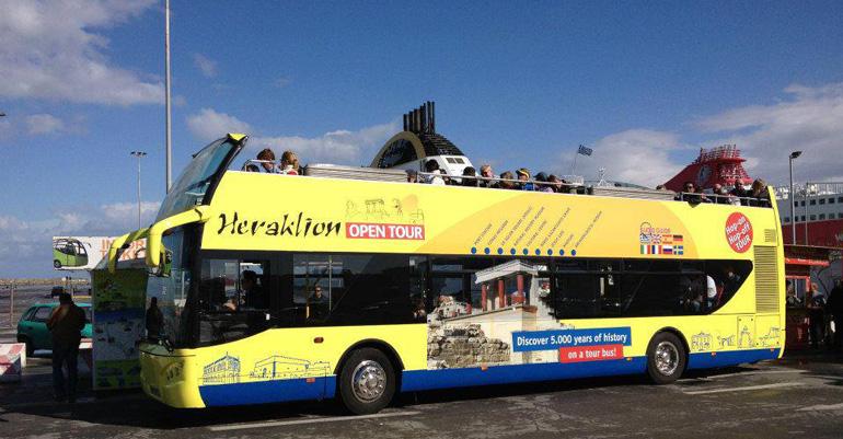 Ônibus panorâmico por Heráklion em Creta