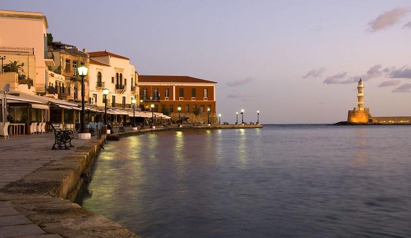 Ruas de Chania em Creta