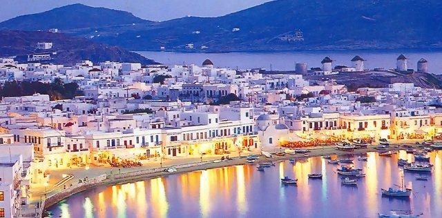 Tempo de avião até Mykonos | Grécia