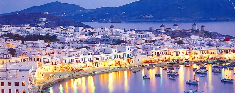 Passeios românticos em Mykonos na Grécia