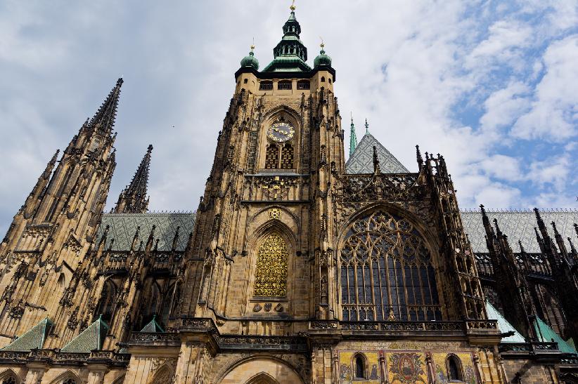 Detalhes da Catedral São Vitus em Praga