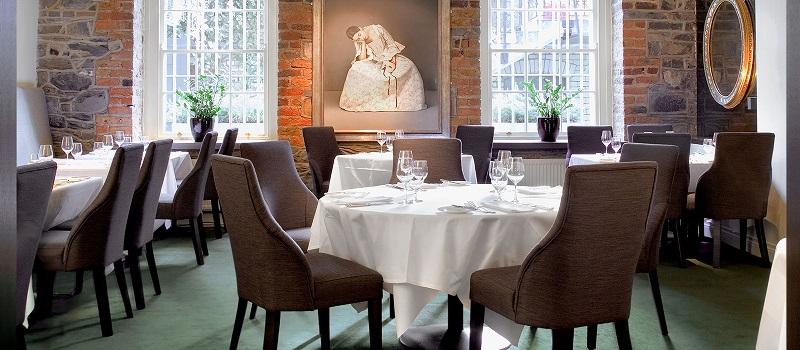 Restaurante romântico em Dublin