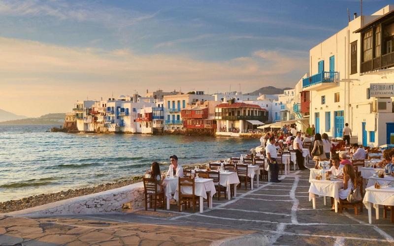 Restaurante em Mykonos