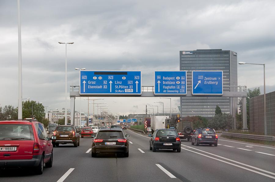 Estradas e rodovias em Viena